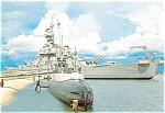 USS Alabama Battleship Postcard