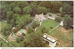 Click here to enlarge image and see more about item n0445: Graceland TN Elvis Presley Home Aerial View Postcard n0445