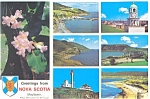 Click here to enlarge image and see more about item n0451: Greetings From Nova Scotia Canada Multi View Postcard n0451