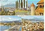 Luzern,Switzerland Multi View  Postcard 1969