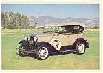 Click here to enlarge image and see more about item n0456: 1931 Model A Deluxe 4-Door Phaeton Postcard