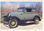 Click here to enlarge image and see more about item n0457: 1931 Model A Ford Victoria Postcard