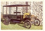 Click here to enlarge image and see more about item n0466: 1913 Model T Ford Express Wagon Postcard
