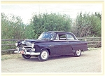 Click here to enlarge image and see more about item n0487: 1952 Ford V-8 Tudor Sedan Postcard n0487