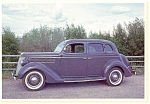 Click here to enlarge image and see more about item n0492: 1936 Ford V-8 Fordor Sedan Postcard n0492