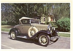 Click here to enlarge image and see more about item n0493: 1930 Ford Model A Deluxe Roadster Postcard