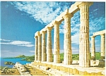 Click here to enlarge image and see more about item n0510: Greece Temple of Posidon Postcard n0510