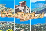 Click here to enlarge image and see more about item n0515: Island of Crete Multiview  Postcard n0515