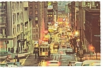 San Francisco CA Powell St Cable Cars  Postcard n0518