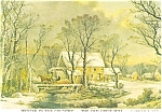 Winter Time In The Country Currier and Ives Postcard