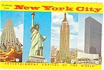 New York City Four Views Postcard