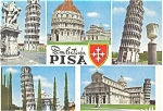Pisa Italy The Leaning Tower Multiple Views Postcard n0577