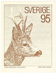 Click here to enlarge image and see more about item n0583: Sverige  Deer  Postcard