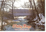 Valley Forge PA Knox Covered Bridge Postcard n0722