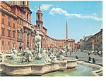 Click here to enlarge image and see more about item n0728: Rome Italy Navona Square Postcard n0728