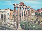 Click here to enlarge image and see more about item n0732: Rome, Italy View of The Roman Forum Postcard