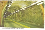 Tunnel at Buffalo Bill Dam Wyoming Postcard n0743