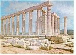 Click here to enlarge image and see more about item n0751: Athens, Greece Temple of Poseidon Postcard