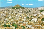 Click here to enlarge image and see more about item n0755: Athens Greece Partial Aerial View Postcard n0755