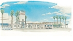 Click here to enlarge image and see more about item n0758: Hacienda Hotel at LAX Postcard