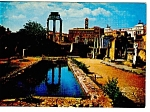 Click here to enlarge image and see more about item n0759: Rome, Italy, View of The Roman Forum Postcard