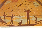 Click here to enlarge image and see more about item n0771: Mitchell SD  Corn Palace Hunting Postcard n0771