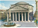 Click here to enlarge image and see more about item n0774: Rome Italy View of The Pantheon Postcard n0774