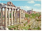 Click here to enlarge image and see more about item n0798: Rome, Italy, The Roman Forum Postcard