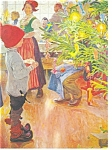 Click here to enlarge image and see more about item n0803: Artwork Postcard Christmas Eve by Carl Larsson n0803