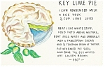 Click here to enlarge image and see more about item n0827: Key Lime Pie Recipe  Postcard