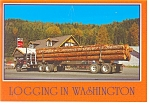 Click here to enlarge image and see more about item n0864: Elbe, WA, Logging Truck Postcard