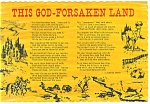 This God-Forsaken Land, Juanita Leach Poem Postcard