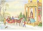 Victorian Sleigh Scene, Christmas Postcard