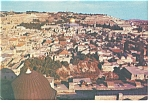 Click here to enlarge image and see more about item n0873: Jerusalem Israel View of the Old City Postcard n0873