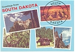 Greetings From South Dakota Postcard n0879