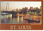 Click here to enlarge image and see more about item n0904: St Louis, MO, Riverfront and Skyline Postcard