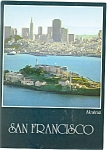 San Francisco CA Alcatraz and The Bay Large Postcard n0928