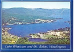Mt Baker and Lake Whatcom, Washington Postcard