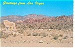 Click here to enlarge image and see more about item n0953: Red Rock Canyon, NV Desert Scene Postcard