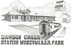 Click here to enlarge image and see more about item n0964: Dawson Creek, BC Railroad Station Museum Postcard