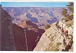 Click here to enlarge image and see more about item n0977: Bright Angel Trail  Grand Canyon  Arizona Postcard n0977
