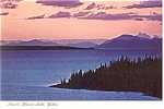 Click here to enlarge image and see more about item n0978: Kluane Lake, Yukon at Sunset  Postcard