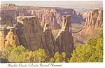 Click here to enlarge image and see more about item n0980: Monolith Parade, Colorado National Monument Postcard