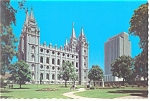 Mormon Temple, Salt Lake City, UT Postcard