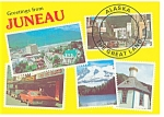 Juneau, Alaska Multi Views Postcard