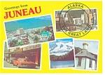 Click here to enlarge image and see more about item n1007: Juneau Alaska Multi Views Postcard n1007