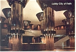Click here to enlarge image and see more about item n1008: Lobby City of Faith Oral Roberts University OK Postcard n1008