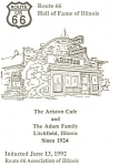 Litchfield  IL Ariston Cafe Route 66 Postcard n1015