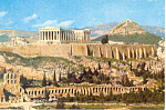 Click here to enlarge image and see more about item n1020: View of the Acropolis Athens Greece Postcard n1020