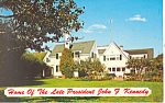 John F Kennedy Home, Hyannis Port, MA Postcard